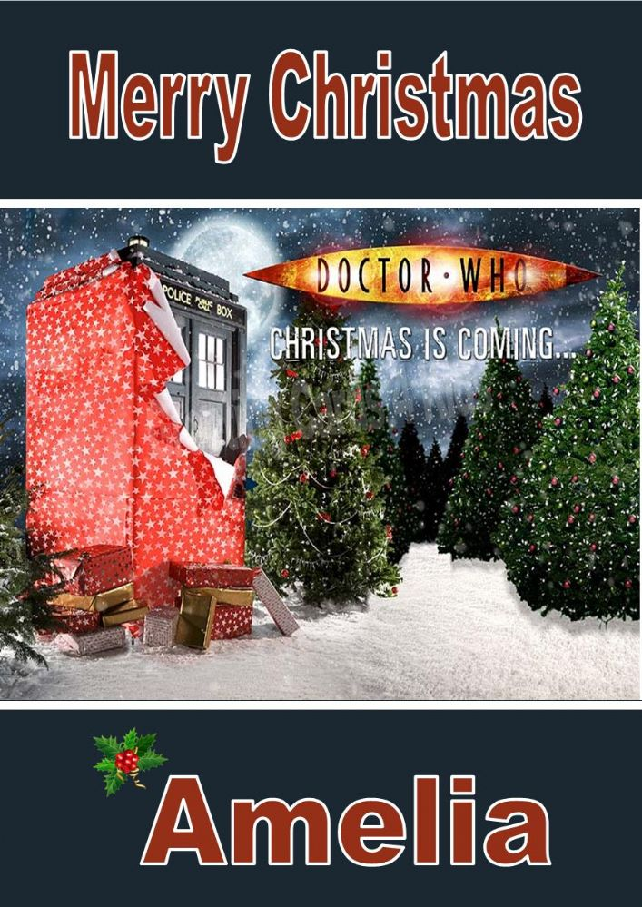 Personalised Doctor Who Christmas Card